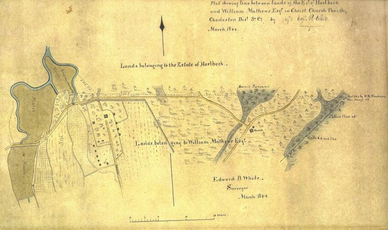 Map of Snee Farm 1844
