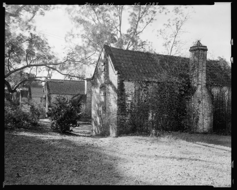 Boone Hall Slave Cabins, 1938