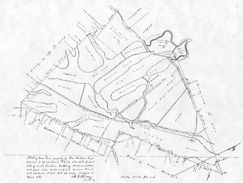 Map of Snee Farm 1828