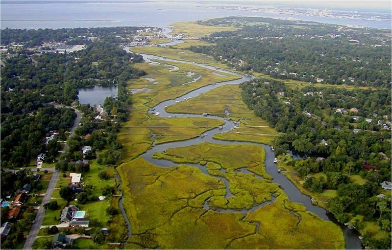 Shem Creek aerial