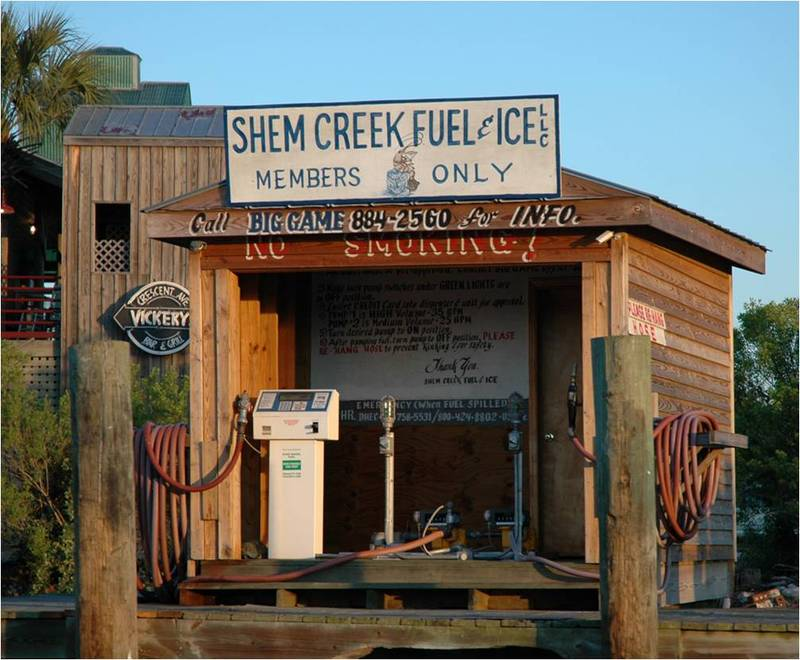 Shem Creek fuel dock