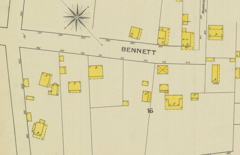 1893 Sanborn map showing orphange at Venning and Bennett